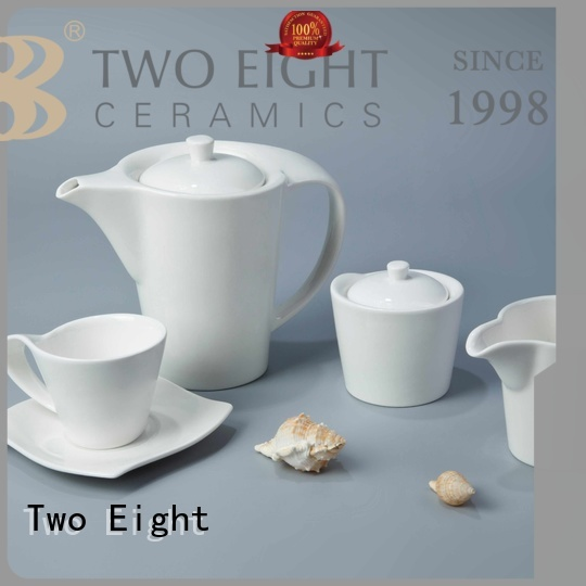 Two Eight Brand wang sample contemporary white porcelain tableware embossed
