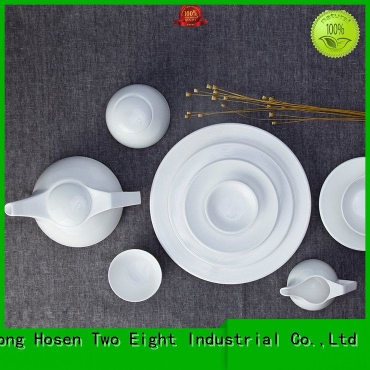 Hot white dinner sets huan Two Eight Brand