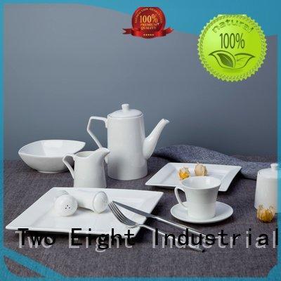white porcelain tableware modern smooth plate elegant Two Eight