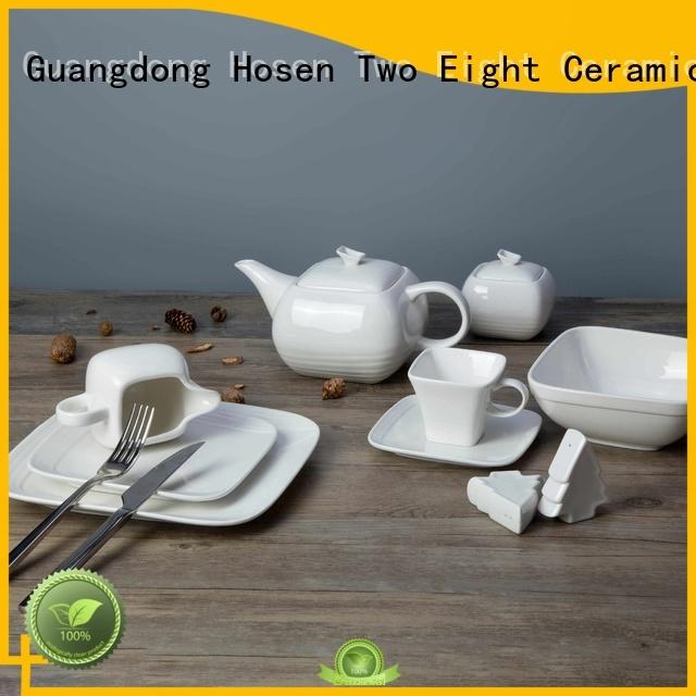 Two Eight white porcelain dinnerware restaurant manufacturers for dinner