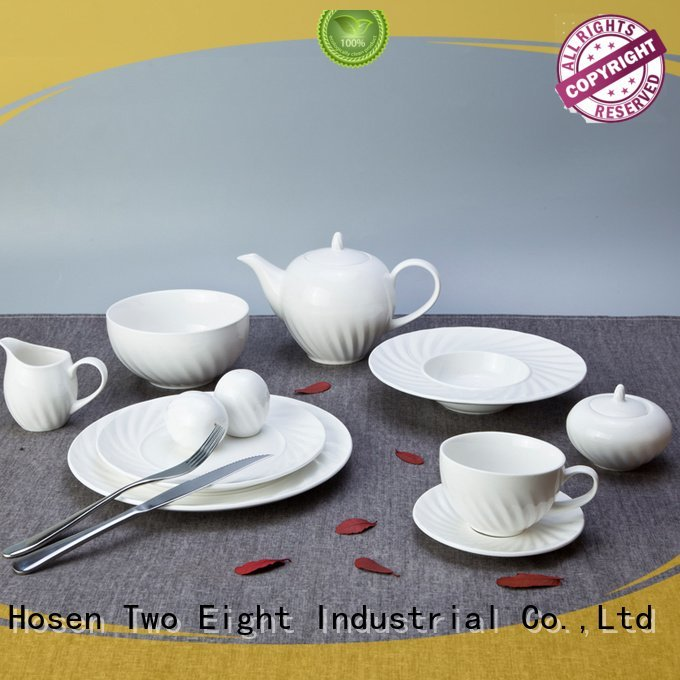 Two Eight white dinner sets surface style white color