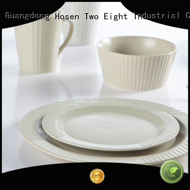 16 piece porcelain dinner set contemporary rim Two Eight Brand