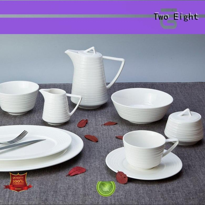 Two Eight round discount restaurant dinnerware customized for hotel