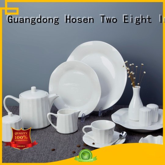 Quality white porcelain tableware Two Eight Brand surface white dinner sets