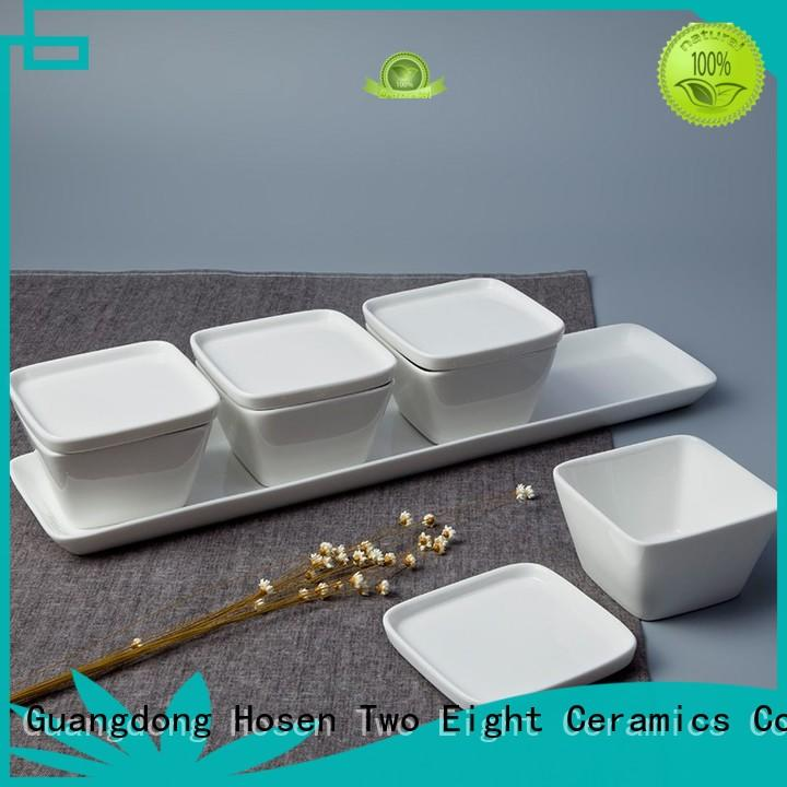 Two Eight decal cheap restaurant crockery design for bistro
