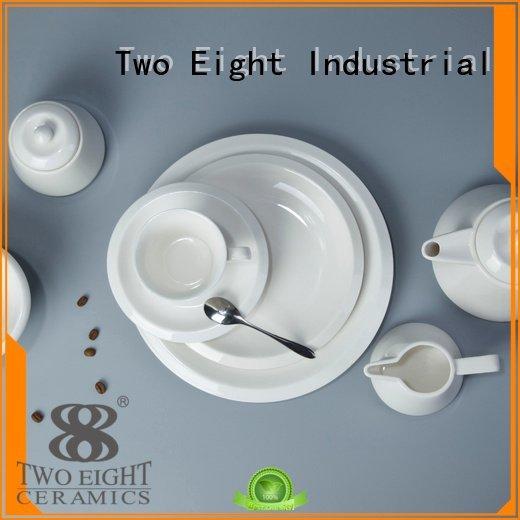 Two Eight Brand white white porcelain tableware glaze sample