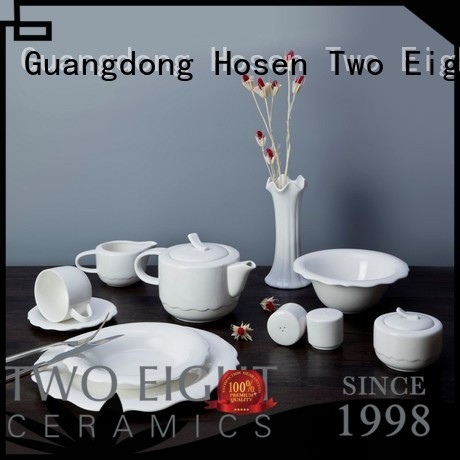 surface white fang Two Eight Brand white porcelain tableware factory