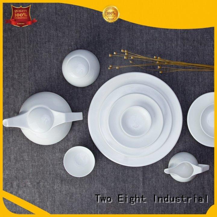 dinner quan Two Eight Brand white dinner sets