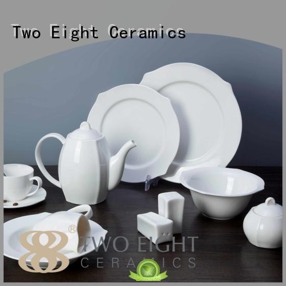 white porcelain tableware rim casual dinnerware Warranty Two Eight