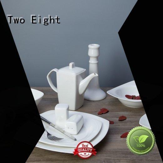 Two Eight restaurant modern bing white porcelain tableware plate