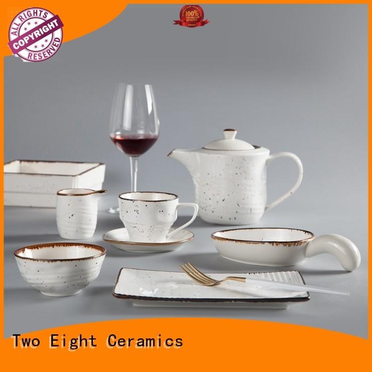 black porcelain dinnerware series for dinner Two Eight