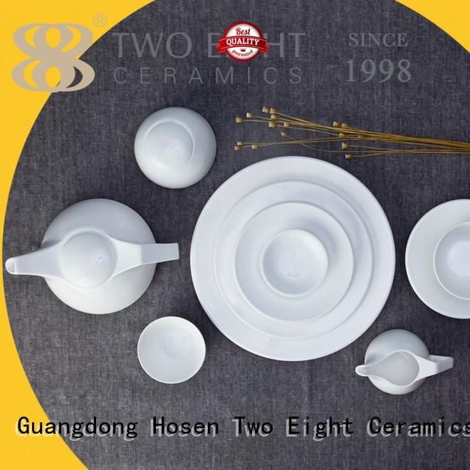 Two Eight smooth white porcelain manufacturer for dinning room