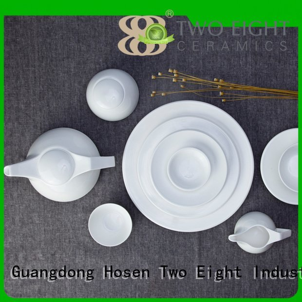 sample style fang white dinner sets Two Eight