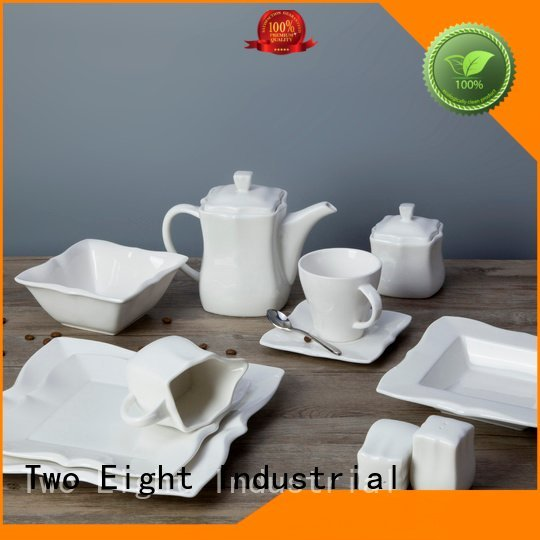 white porcelain tableware plate Two Eight Brand white dinner sets