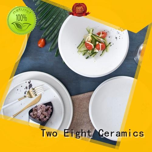 Two Eight modern hotel dinner plates from China for hotel