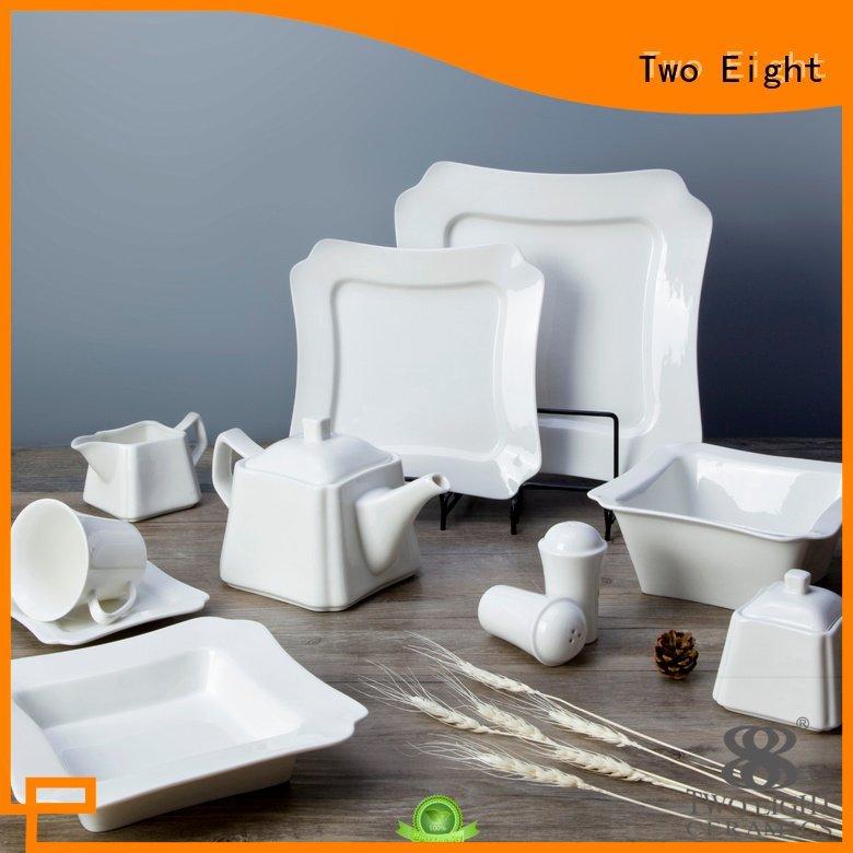 white porcelain tableware fang white dinner sets Two Eight Brand