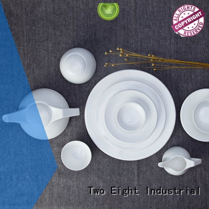white porcelain tableware bing round white dinner sets Two Eight Warranty