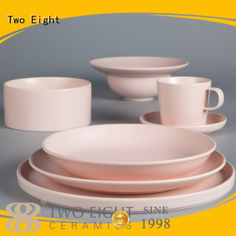 yellow guagn 16 piece porcelain dinner set hotel color Two Eight Brand