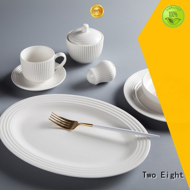 Two Eight Italian style best porcelain dinnerware in the world directly sale for home