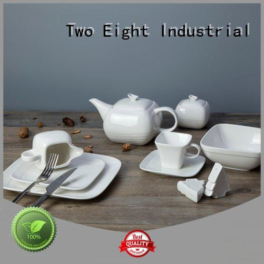 square smoothly Two Eight white porcelain tableware