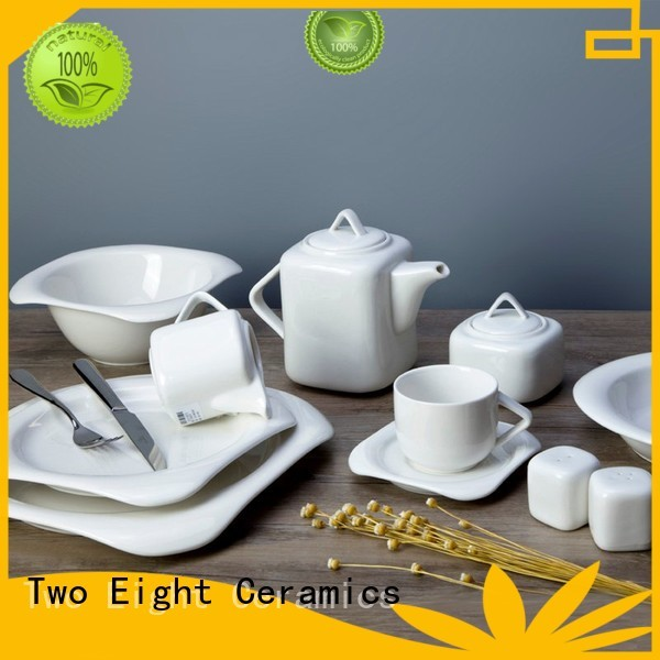 white porcelain tableware smooth Bulk Buy hotel Two Eight