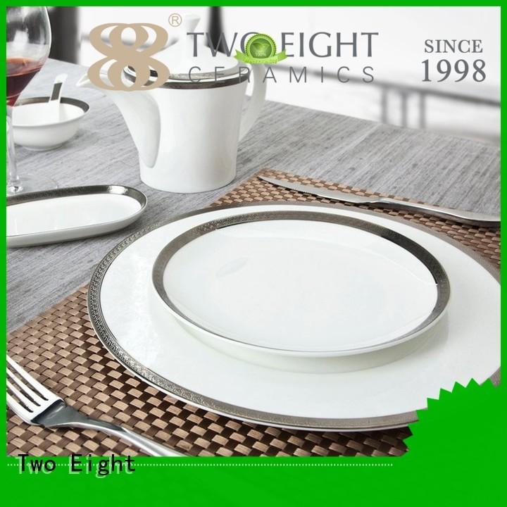fine white porcelain dinnerware rose blue fine Two Eight Brand two eight ceramics