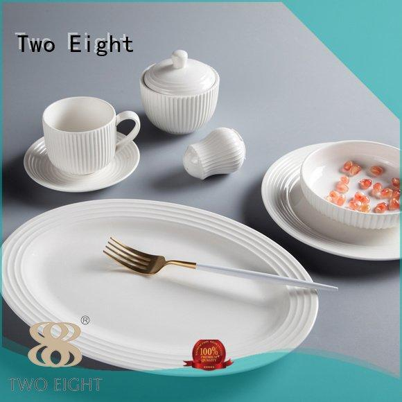 white porcelain tableware glaze white white dinner sets Two Eight Brand