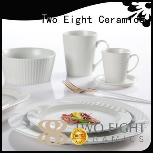 Two Eight Brand irregular classic jade 16 piece porcelain dinner set mixed