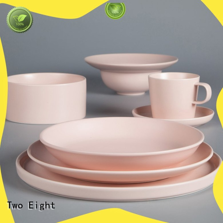 Two Eight vintage grey porcelain dinnerware customized for home