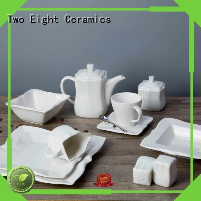 casual white porcelain tableware royalty Two Eight company