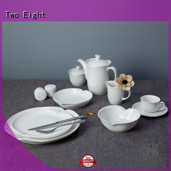 smoothly white dinner sets Two Eight white porcelain tableware