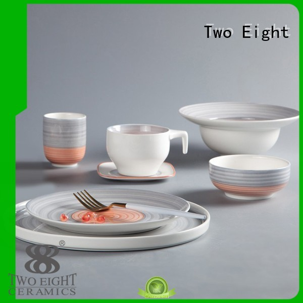 16 piece porcelain dinner set ping hotel two eight ceramics Two Eight Brand