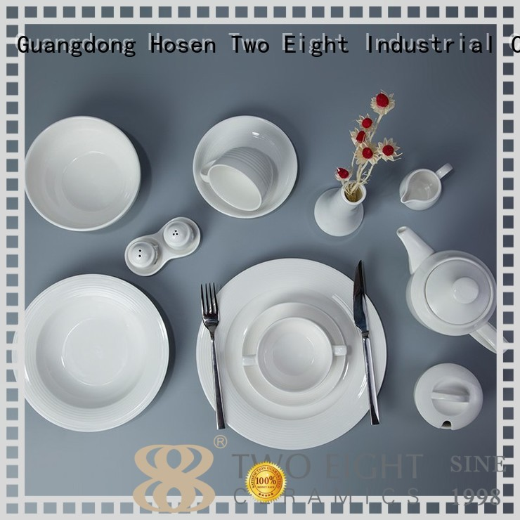 stock white white porcelain tableware home Two Eight company
