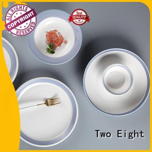 Two Eight white porcelain dinnerware set directly sale for dinner