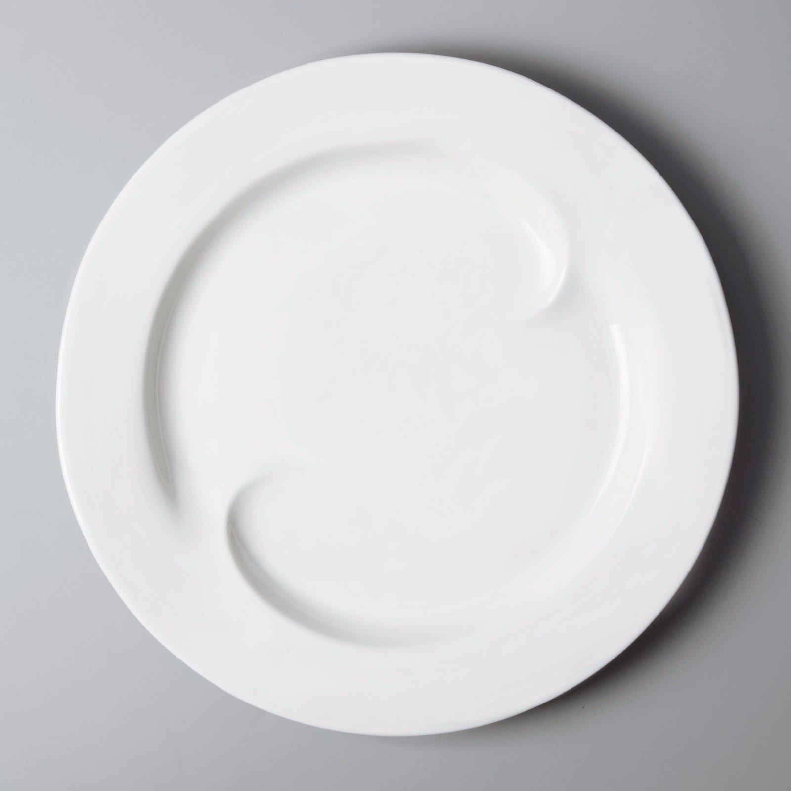 Two Eight round white dinner sets customized for kitchen-2