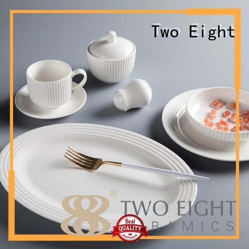 Two Eight Brand square royalty white porcelain tableware