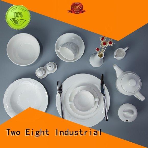 Two Eight white porcelain tableware royalty elegant royal