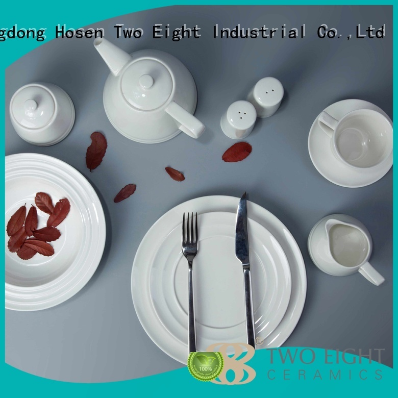 white porcelain tableware contemporary two eight ceramics Two Eight Brand