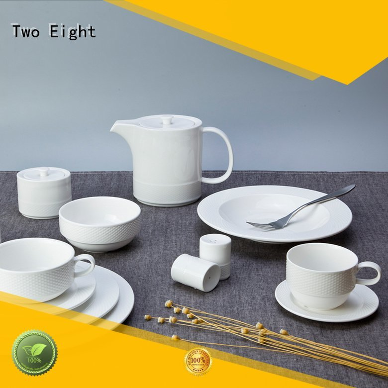 Custom white dinner sets smoothly huan fang Two Eight