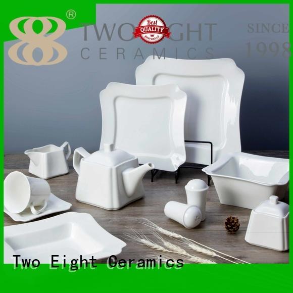 Two Eight irregular restaurant porcelain dinnerware directly sale for dinner