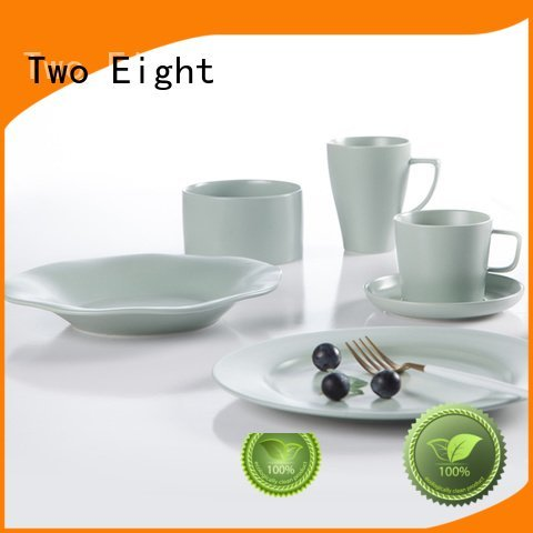 Two Eight light blue and white porcelain irregular black