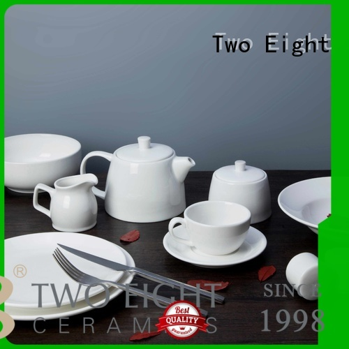 white porcelain tableware color two eight ceramics Two Eight Brand