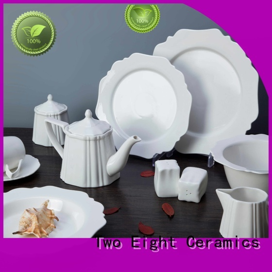 Two Eight white restaurant dishes manufacturers for hotel
