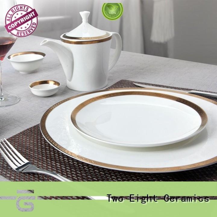 elegant fine porcelain dishes silver wholesale for hotel