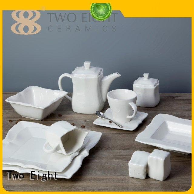 Two Eight Brand royalty porcelain embossed white dinner sets dish