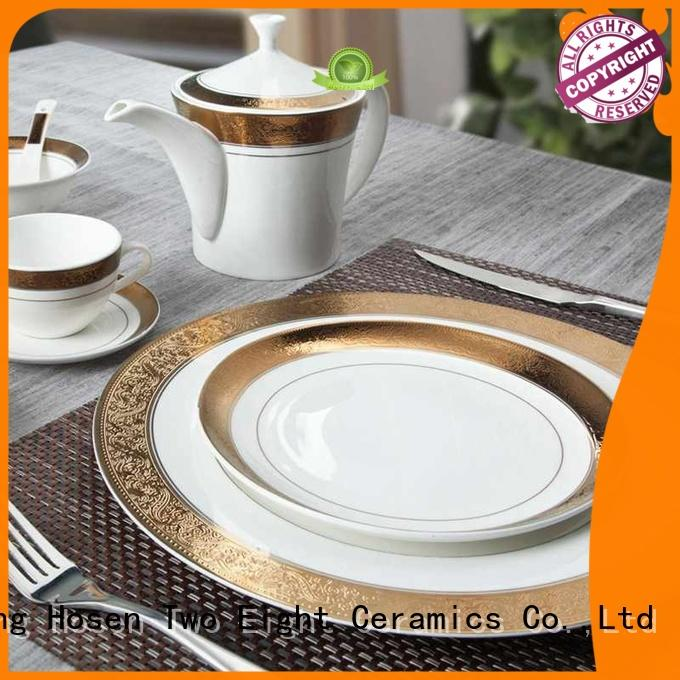 Two Eight blue fine bone china england factory price for dinning room