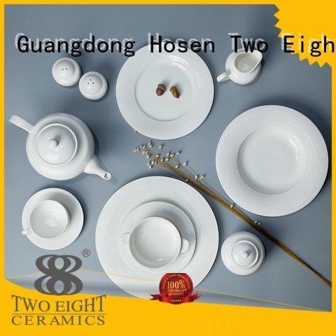 OEM white dinner sets elegant german white porcelain tableware