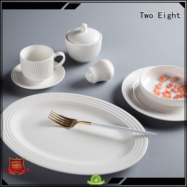 OEM white porcelain tableware dinnerware modern sample white dinner sets