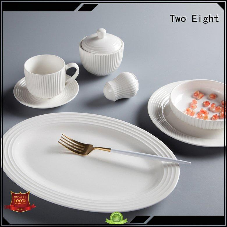 OEM white porcelain tableware dinnerware modern sample white dinner sets