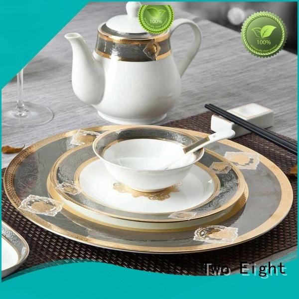 bone fine china plates white for kitchen Two Eight